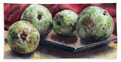 Bath Towel featuring the painting Guapples by Joey Agbayani