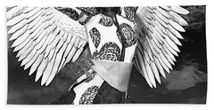 Guardian Angel 7 Hand Towel by Suzanne Silvir