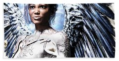 Guardian Angel Poster Hand Towel by Suzanne Silvir