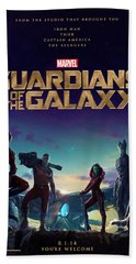 Guardians Of The Galaxy Poster Bath Towel