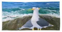 Guarding The Land And Sea Hand Towel
