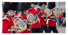 guards band at Buckingham palace Bath Towel