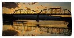 Guffey Bridge At Sunset Idaho Journey Landscape Photography By Kaylyn Franks Hand Towel