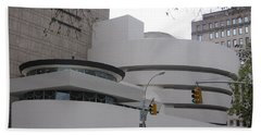 Bath Towel featuring the photograph Guggenheim Complex by Karen J Shine
