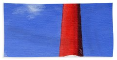 Hand Towel featuring the painting Guiding Light by Lynne Reichhart