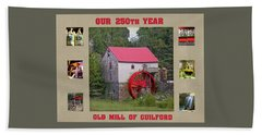 Guilford 250th Year Collage  Bath Towel