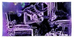 Hand Towel featuring the photograph Guitar Blues by Susan Kinney