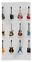 Guitar Icons No3 Bath Towel