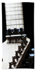 Guitar Neck Bath Towel by Angela Murdock
