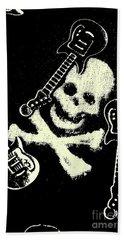 Guitars Of Black Metal Hand Towel