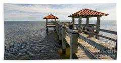 Gulf Coast Pier Hand Towel