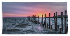 Bath Towel featuring the photograph Gulf Coast Sunrise by James Woody