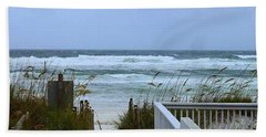 Gulf Coast Waves Hand Towel by Debra Forand