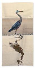 Gulf Port Great Blue Heron Bath Towel