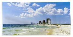 Hand Towel featuring the photograph Gulf Shores Al Beach Seascape 1746a by Ricardos Creations