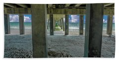 Hand Towel featuring the photograph Gulf Shores Park And Pier Al 1649 by Ricardos Creations