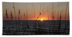 Gulf Sunset In Florida Hand Towel