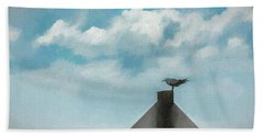 Gull And Sky Hand Towel