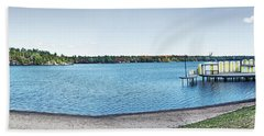 Gull Lake Panorama Bath Towel