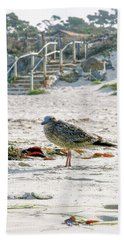 Gull On The Beach Bath Towel