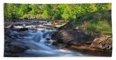 Gull River Falls - Gunflint Trail Minnesota Bath Towel