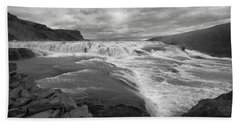Bath Towel featuring the photograph Gullfoss Waterfall No. 1 by Joe Bonita