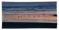 Gulls At Sunset Bath Towel