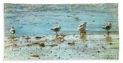 Gulls On The Edge Hand Towel