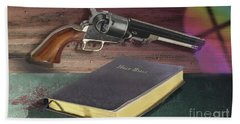 Gun And Bibles Bath Towel
