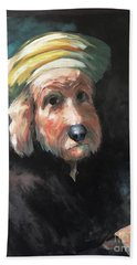 Gunther's Self Portrait Bath Towel by Diane Daigle