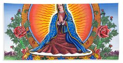 Guru Guadalupe Hand Towel by James Roderick