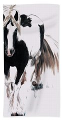 Hand Towel featuring the painting Gypsy Vanner by Isabella F Abbie Shores FRSA