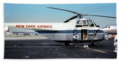 H406a, New York Airways, Skybus At Idlewild International Airpor Hand Towel by Wernher Krutein