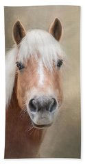 Hand Towel featuring the photograph Haflinger by Robin-Lee Vieira