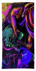 Hair Guitar 2 Bath Towel by DC Langer