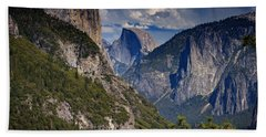 Half Dome And El Capitan Hand Towel by Rick Berk