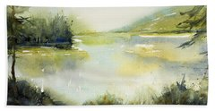 Half Moon Pond Hand Towel by Judith Levins