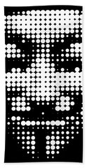 Halftone Anonymous Face  Hand Towel