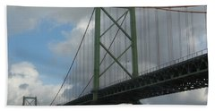 Bath Towel featuring the photograph Halifax Bridge by Karen J Shine