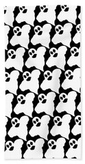 Halloween Ghosts Bath Towel