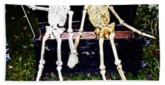 Halloween Skeleton Couple Hand Towel