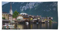 Hallstatt Lakeside Village In Austria Hand Towel