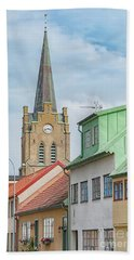 Bath Towel featuring the photograph Halmstad Street Scene by Antony McAulay