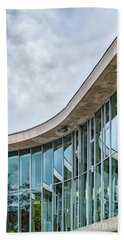 Hand Towel featuring the photograph Halmstad University Labrary Detail by Antony McAulay
