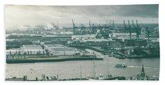 Hamburg Port  Hand Towel