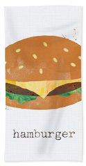 Hamburger Hand Towel by Linda Woods
