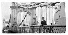 Hammersmith Bridge In London - England - C 1896 Bath Towel