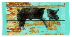 Hampshire Boar 1 Bath Towel by Larry Campbell