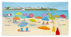 Hampton Beach Umbrellas Hand Towel