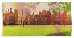 Hampton Court Palace Panorama Bath Towel